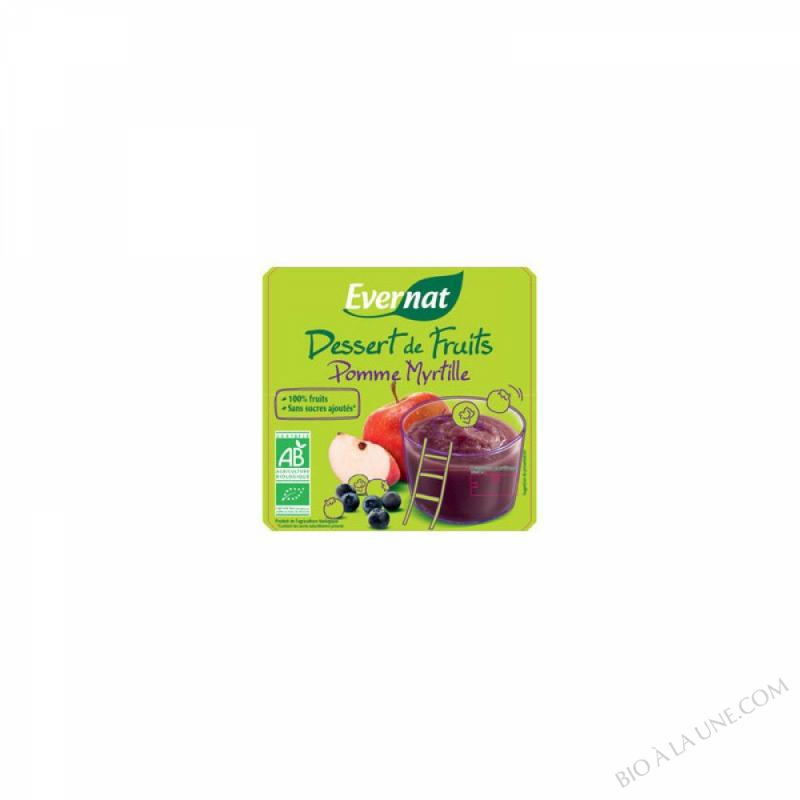 Dessert de Fruits Pomme Myrtille 4x100g