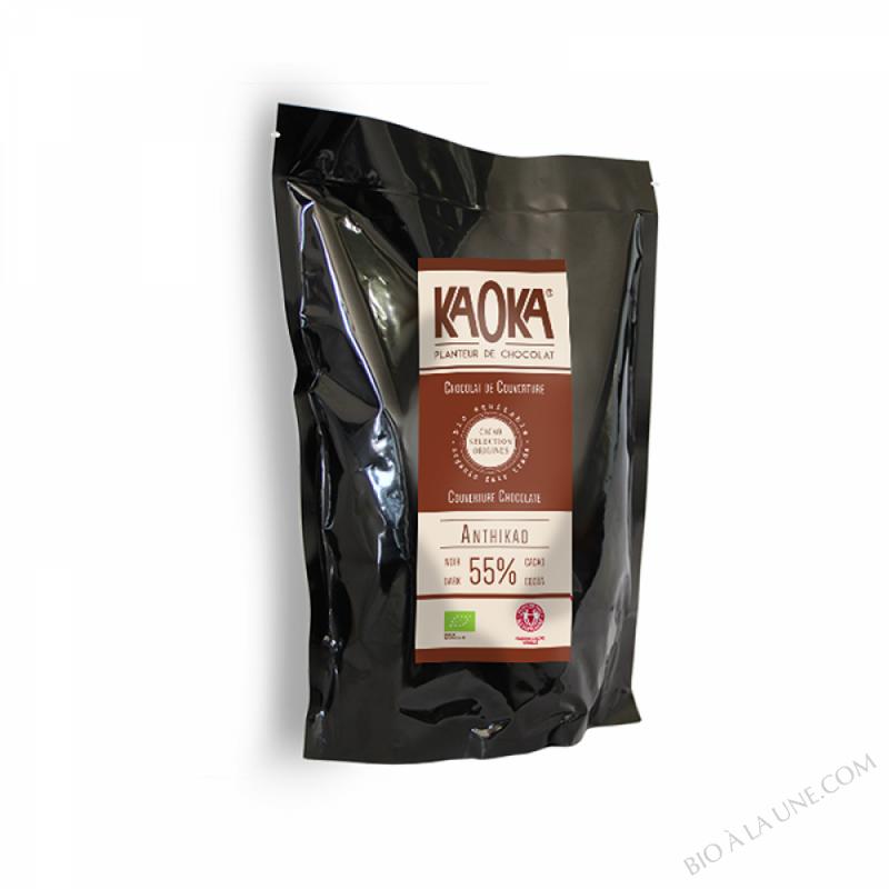 Palets de chocolat noir 55% 1kg