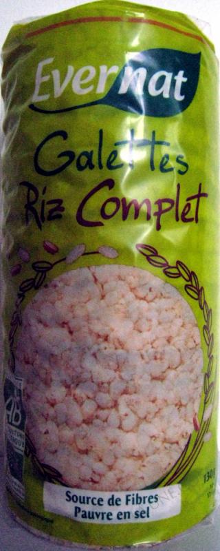GALETTES DE RIZ COMPLET - 130 G