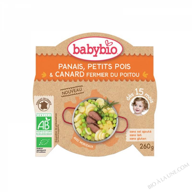 BABYBIO Assiette Panais Petits pois Canard