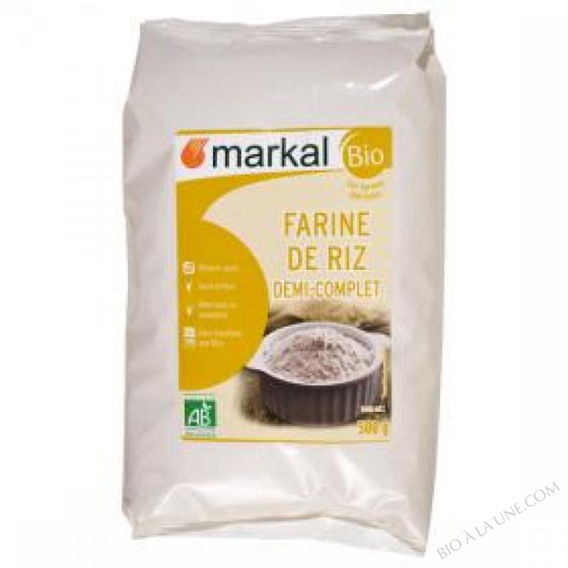 Farine de Riz Demi-complet 500g