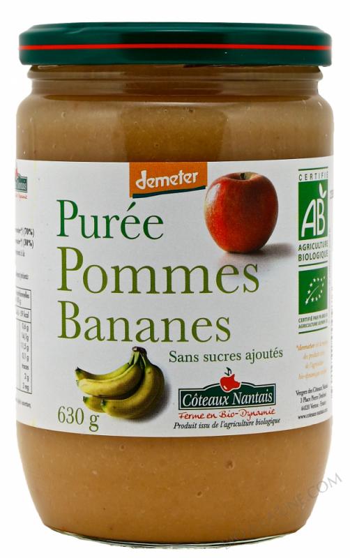 Puree pommes bananes Bio et Demeter 630g