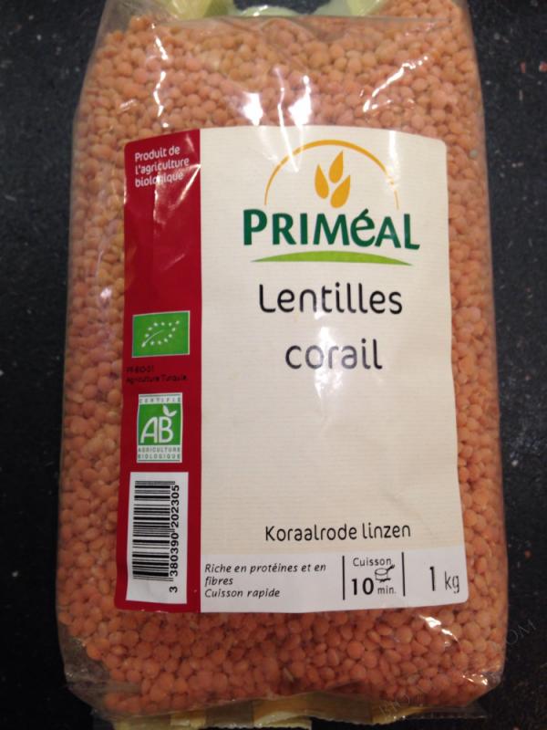 Lentilles Corail Bio 1 kg