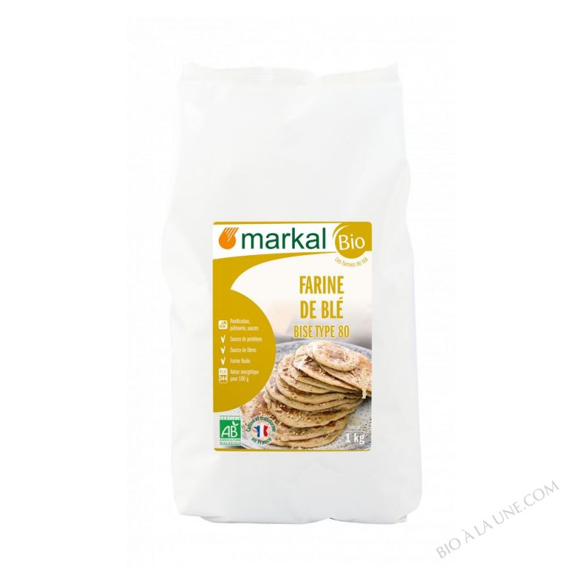 Farine de Ble T80 Bise - 1kg