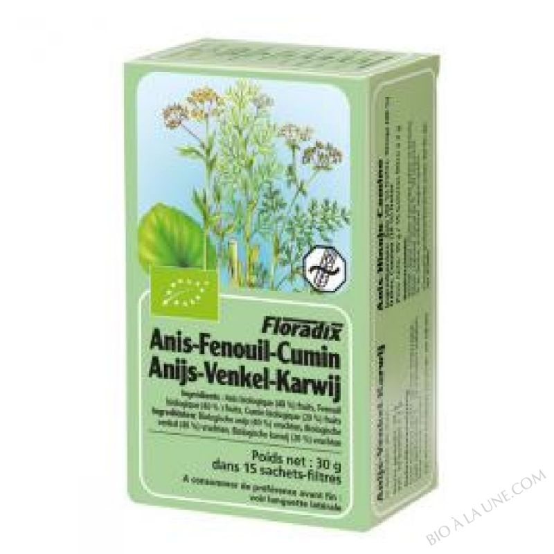 Tisane Floradix Anis - Fenouil - Cumin 15 sachets