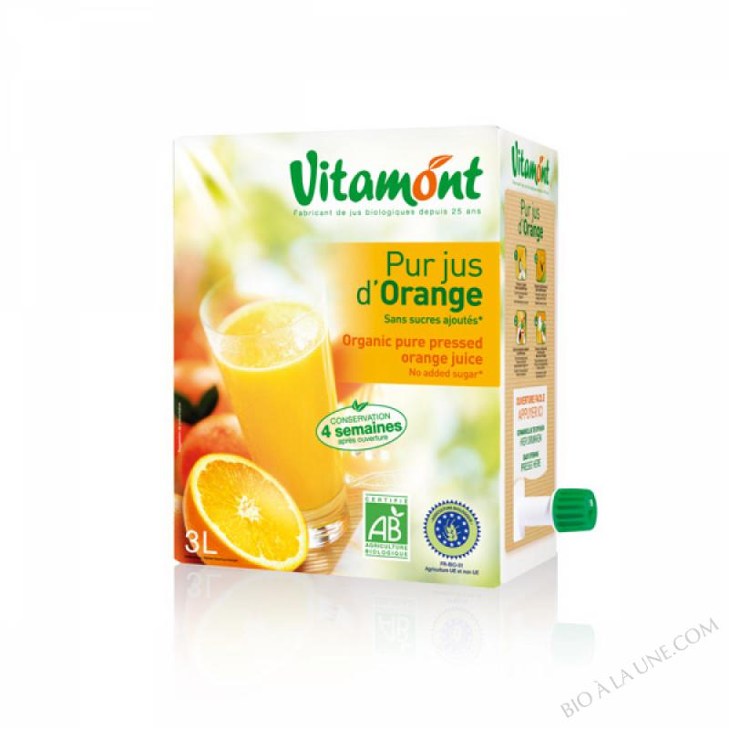Pur Jus d'Orange Bio Fontaine 3L