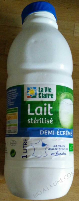 lait demi écrémé 1 L