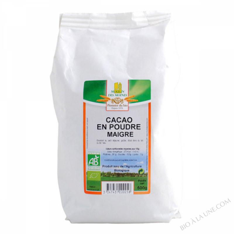 Cacao en Poudre Maigre BIO 500g