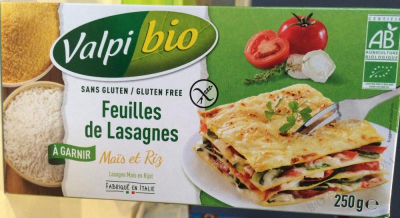Feuilles de lasagnes Mais-Riz Bio 250g