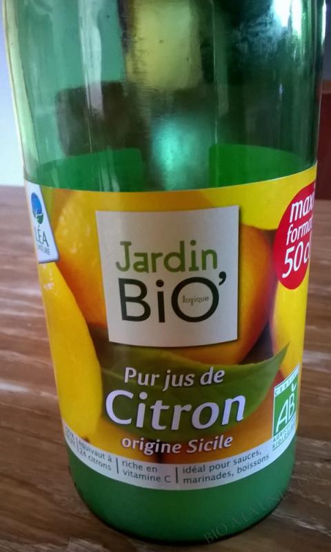 Pur jus de citron de Sicile 50 cl