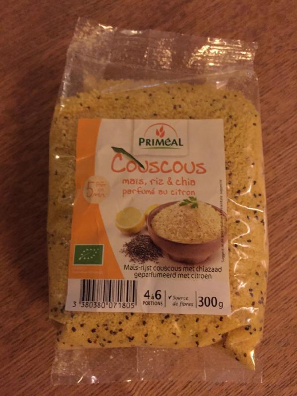 Couscous riz, maïs et chia parfumé citron - 300g