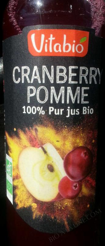Pur Jus Cranberry Pomme Bio 50cl