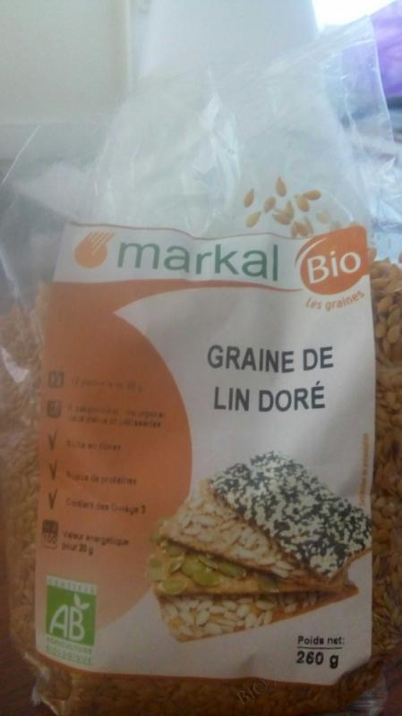 Graines de lin dore 250g