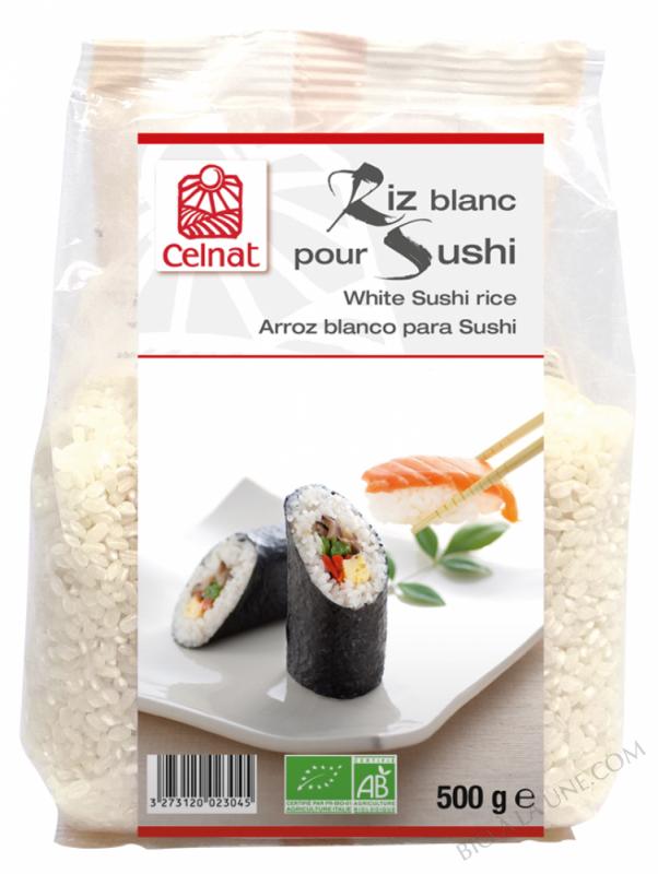 CELNAT Riz blanc pour sushi BIO - 500g