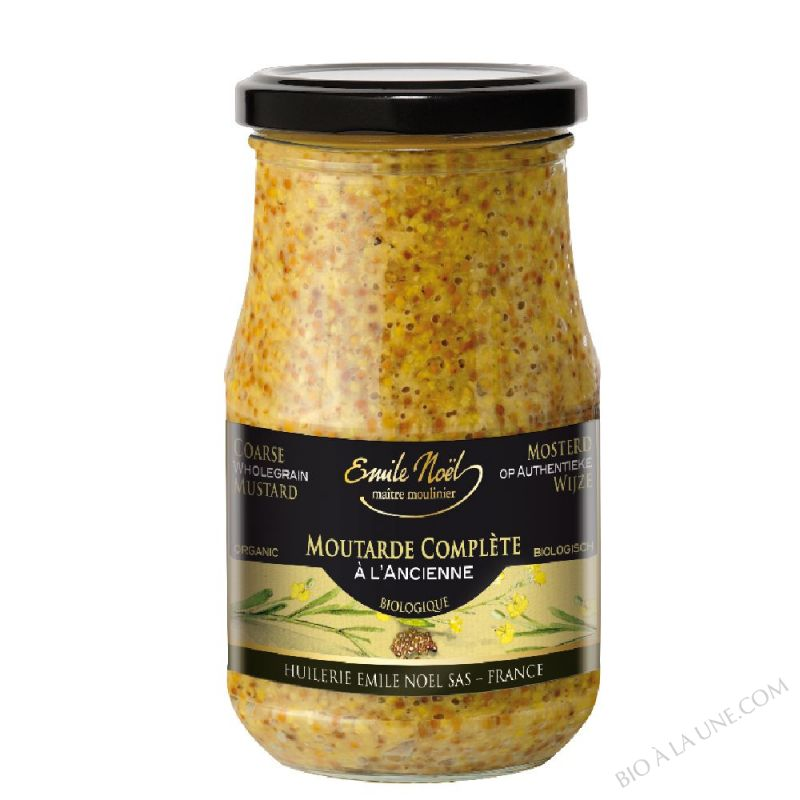 Moutarde à l'ancienne en grains bio - 350g