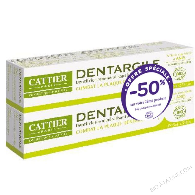 Lot de 2 dentifrices Dentargile Anis