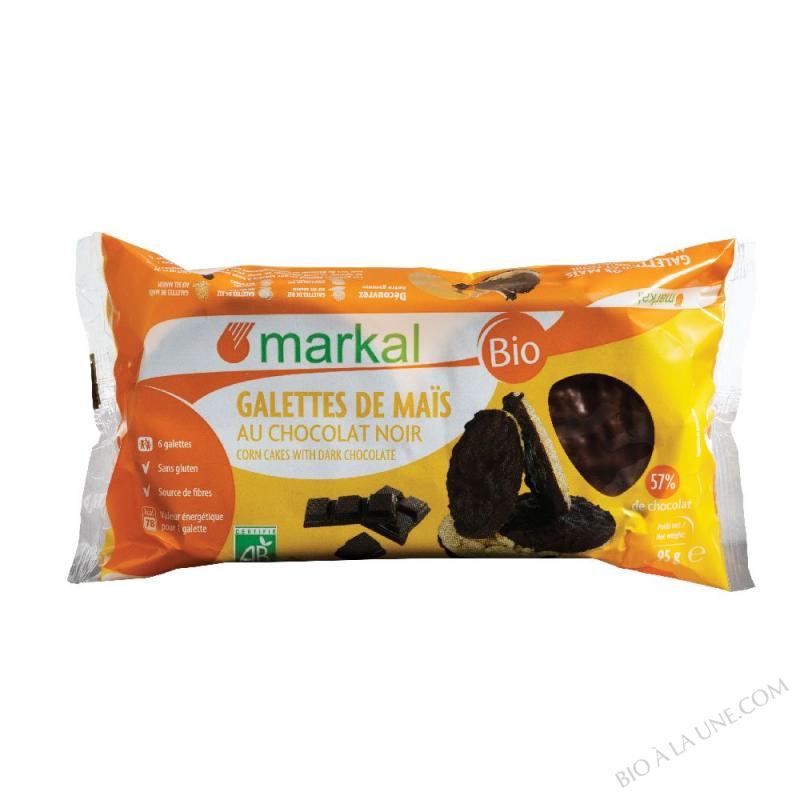 Galettes de maïs au chocolat noir (57%)