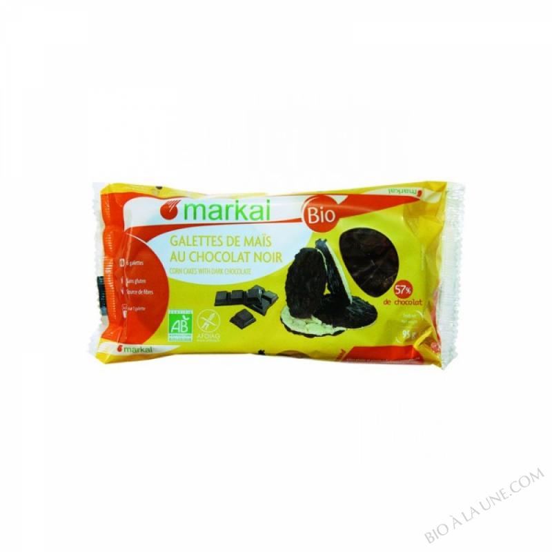Galettes de mais au chocolat noir - 95g