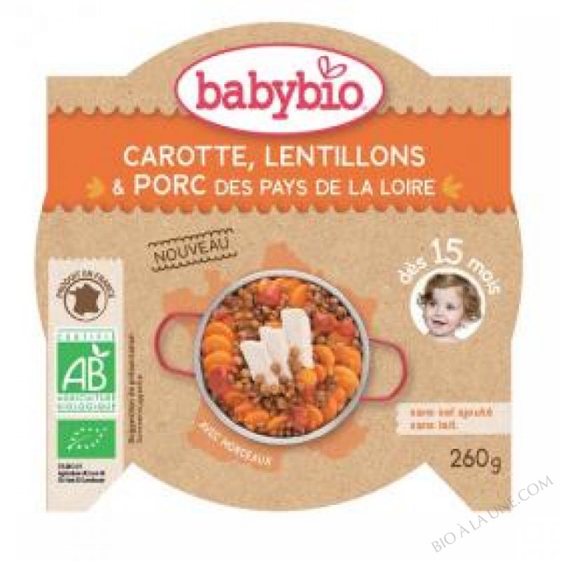 Assiette Lentillons Porc - 260g