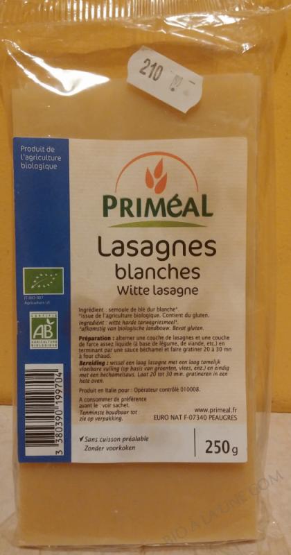 Lasagnes Blanches 250g bio