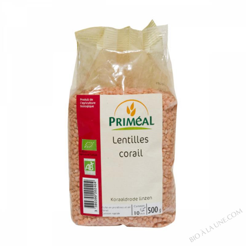 Lentilles Corail Bio 500 g