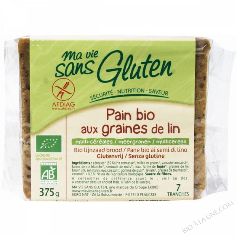 Pains Bio aux graines de Lin 375gr