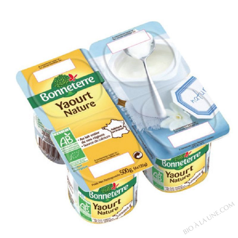 YAOURT NATURE (ORIGINE FRANCE) - 4X125 G