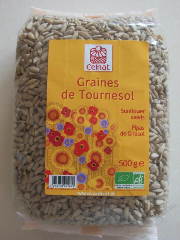 CELNAT Graines de Tournesol BIO - 500G