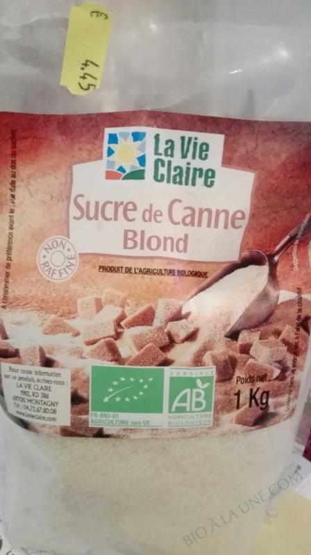 Sucre de canne poudre blond -  1 kg