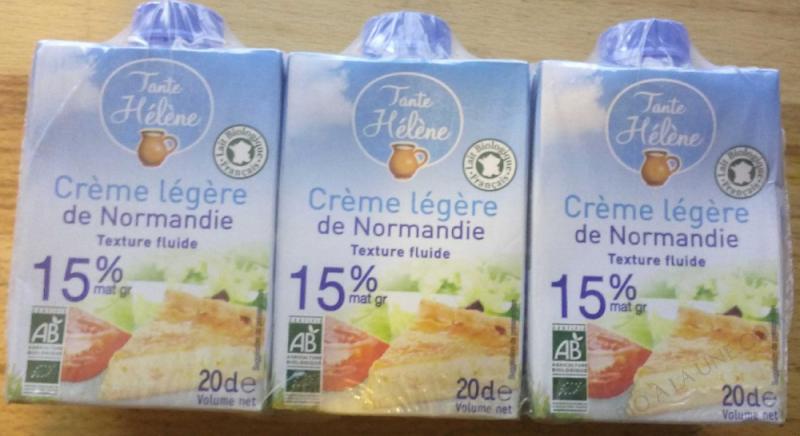 Crème légère de Normandie (15%MG) - 3x20cl