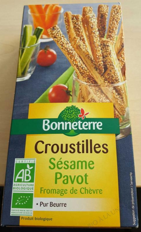 Croustilles sesame Pavot fromage de Chevre bio 100g