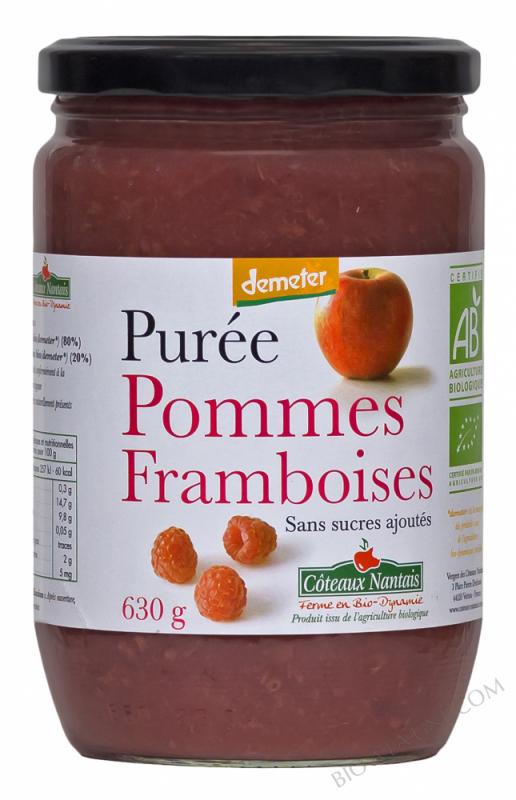 Puree pommes framboises Bio et Demeter 630g