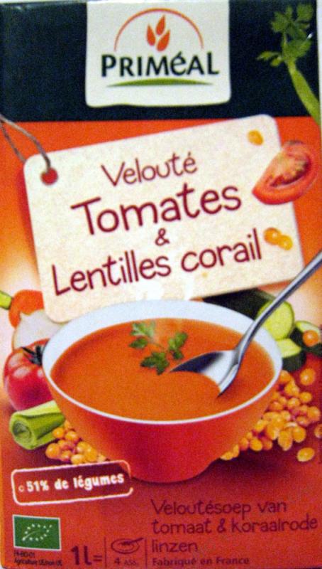 Veloute Tomate & Lentilles Corail 1L
