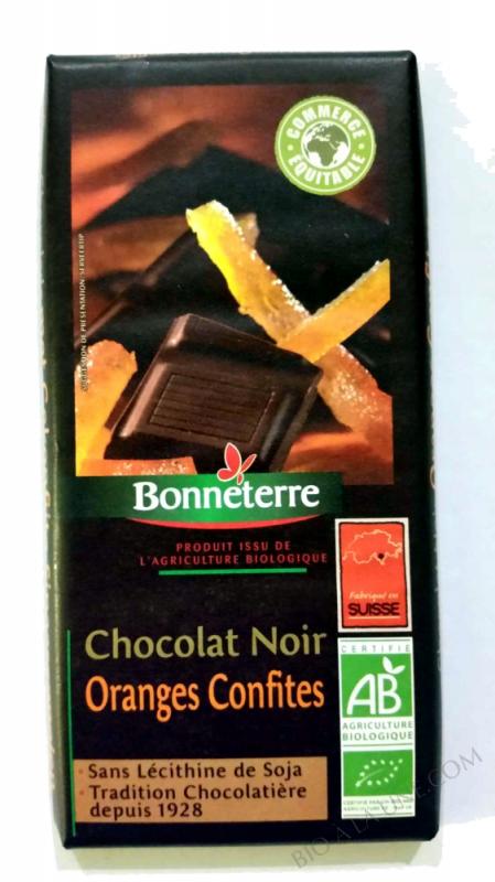 Chocolat Noir Oranges Confites 100gr