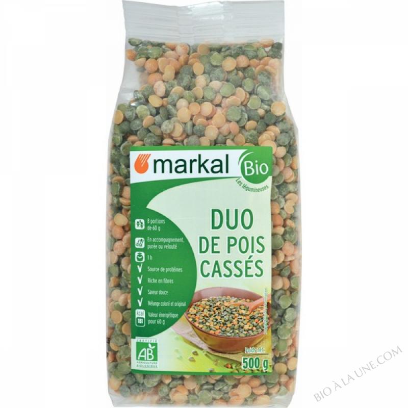 DUO DE POIS CASSES (Verts et Jaunes) - 500g