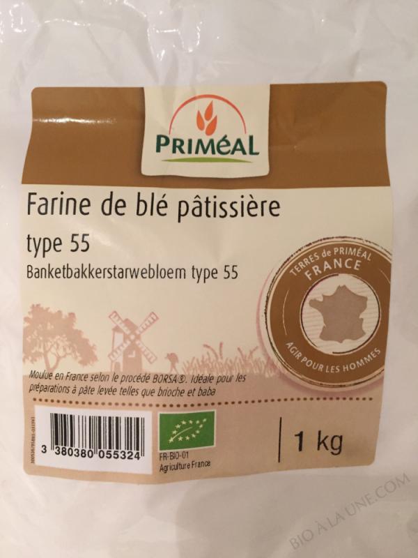 Farine Pâtissiere de Ble Bio T55