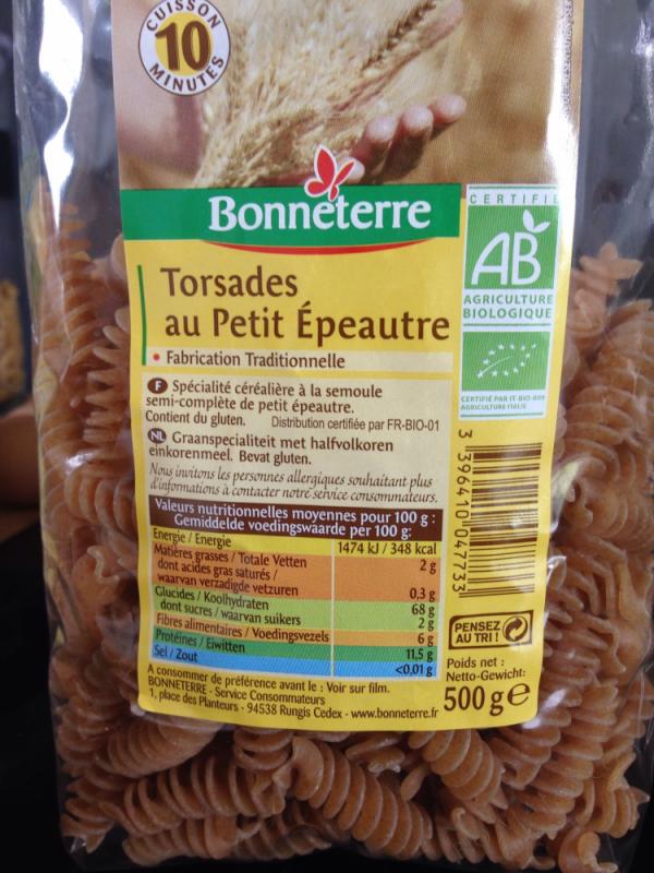 TORSADES A L'EPEAUTRE - 500 G
