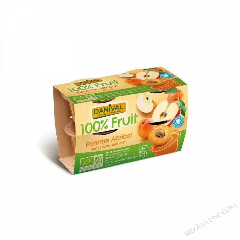 100% fruit pomme abricot X4
