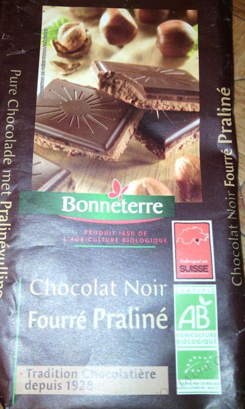 Chocolat Noir Fourre Praline 100gr