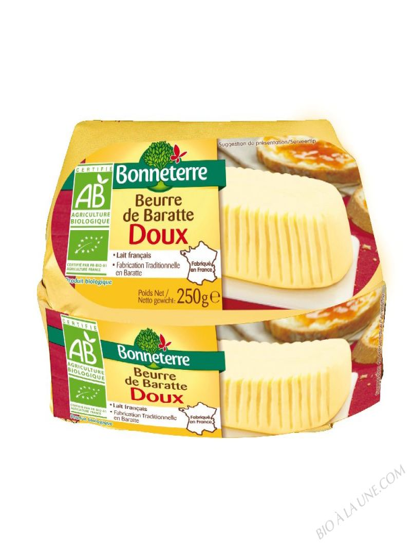 BEURRE DE BARATTE DOUX (ORIGINE FRANCE) - 250 G