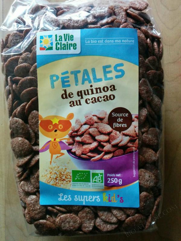 Pétales de quinoa au cacao bio