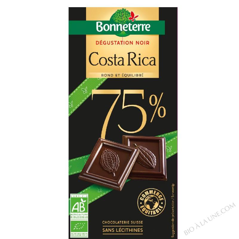 Dégustation Noir Costa Rica 75%