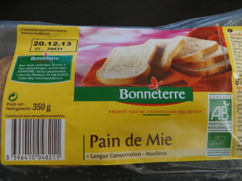 PAIN DE MIE LONGUE CONSERVATION - 350 G