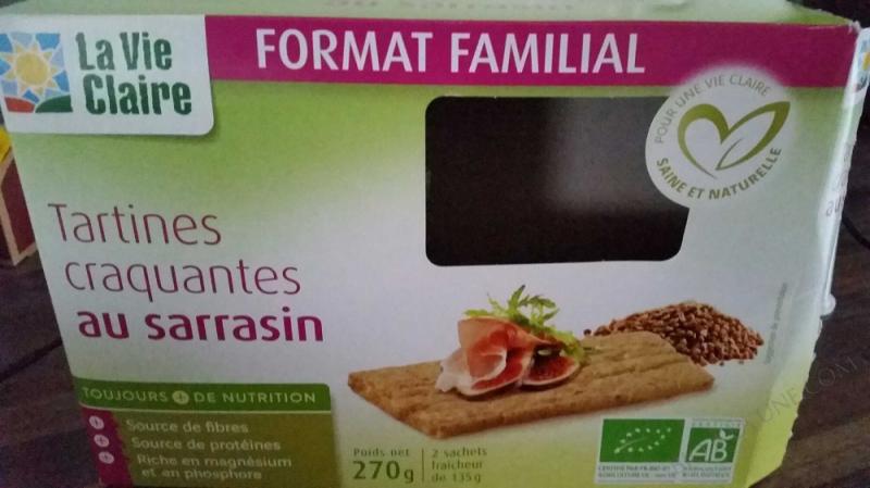 Tartines craquantes au sarrasin- 270 grammes