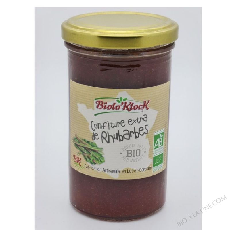 Confiture EXTRA Rhubarbes 300gr