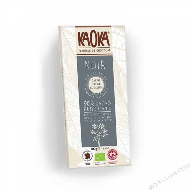 Tablette chocolat noir 90% Equateur 100g