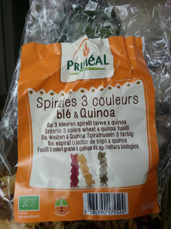 Spirales 3 Couleurs au Quinoa 500g