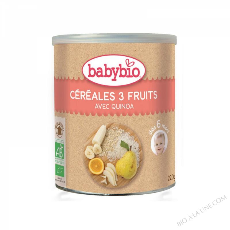 BABYBIO Céréales 3 Fruits