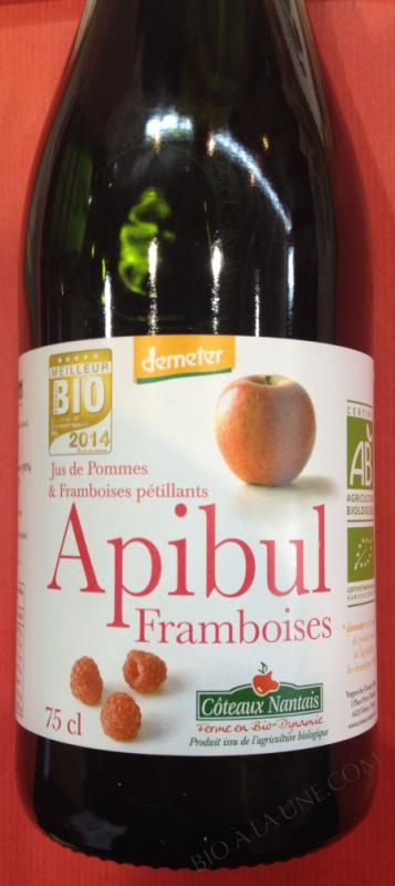 APIBUL POMMES FRAMBOISES BIO ET DEMETER 75CL