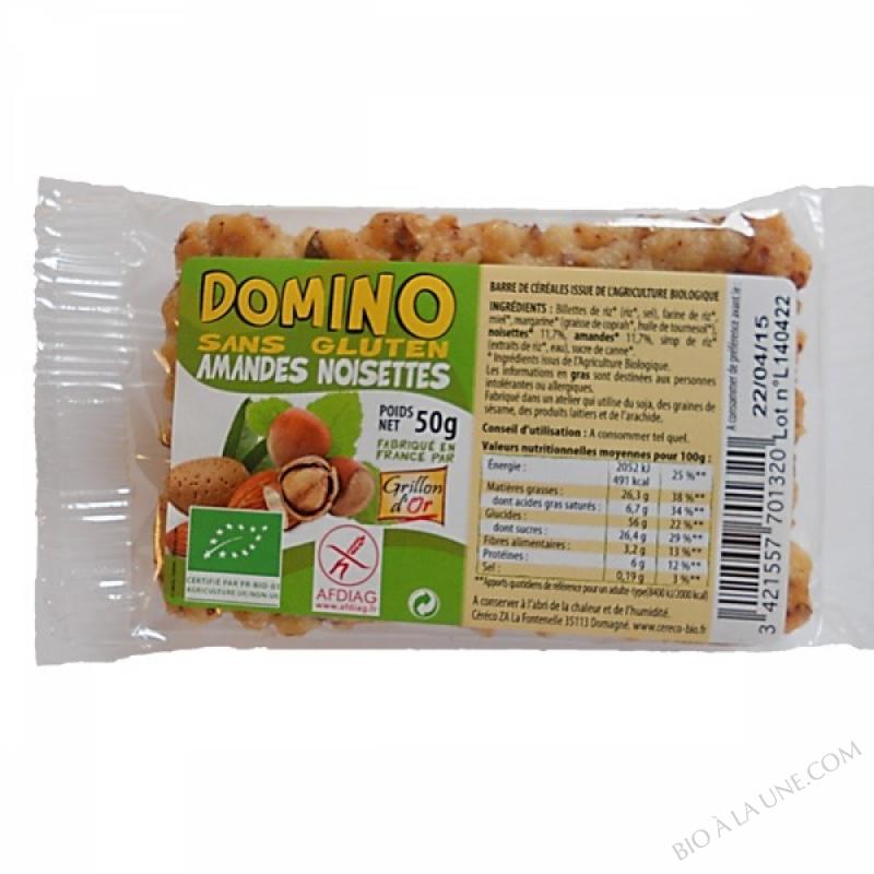 Domino sans gluten amandes noisettes 50g
